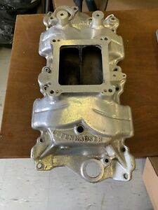Offenhauser Polished Small Block Chevrolet Manifold With Blower Adapter Free Shp