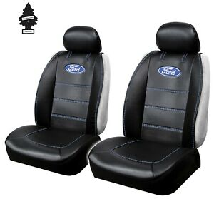 Car Truck Suv Seat Covers Set For Ford Front Sideless Black Universal Size Pair