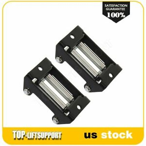 Winch Roller Fairlead Heavy Duty Roller Cable Guide Universal For 3k 4klbs 2pcs
