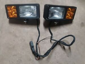 Working Western Fisher Snow Plow Lights 11 Pin Headlight 64100 3 Plug 8435 Light