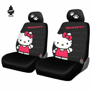 Car Truck Suv Seat Cover For Hyundai New Hello Kitty Core Front Low Back Bundle