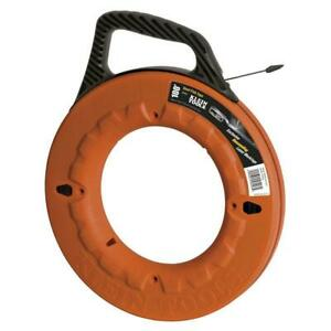 Klein 100ft Steel Fish Tape High Strength Wire Cable Puller Running Pushing Tool