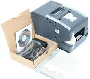 New Epson Tm h6000iv M253a Direct Thermal Printer Dark Gray W Powered Usb Plus