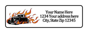 Hot Rod Flames Personalized Return Address Labels 1 2 In By 1 3 4 In