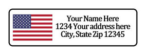 American Flag Personalized Return Address Labels 1 2 In By 1 3 4 In