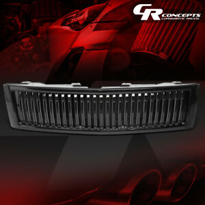 Badgeless Vertical Front Bumper Grill For 2007 2013 Chevrolet Silverado 15