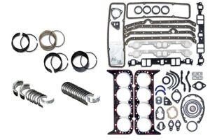 Chevy 350 5 7l Fit Sbc Truck 1986 1995 Engine Rering Remain Kit