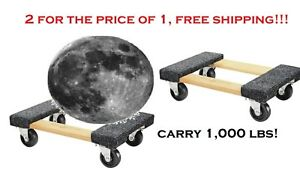 new 2020 2 Furniture Moving Dolly 12 x18 Movers Heavy Duty Caster Appliance