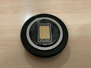 Rare Genuine Leonard Volanti Steering Wheel Center Cap Horn Button Momo Style Vw