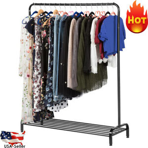 Langria Simple All metal Free Standing Commercial Grade Clothing Garment Rack