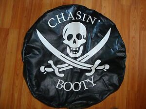 61030 15 Vinyl Spare Tire Cover 30 X 10 With Pirate Vinyl Sticker