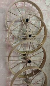 Antique Farm Equipment Or Industrial Equipment Wheels