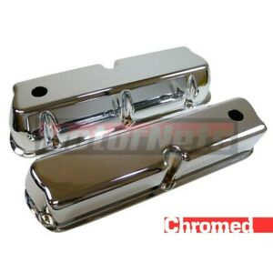 Sbf Small Block Ford Chrome Aluminum 289 302 351w 5 0l Valve Cover Smooth Tall
