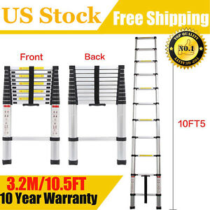 10 5ft Step Ladder Extension Telescoping Lightweight Portable Folding Telescopic
