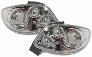 Chrome Look Rear Tail Lights Peugeot 206 Cc 206cc Coupe Cabrio 98 06 Nice Gift