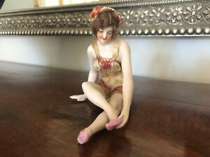 Galluba And Hofmann Hoffman Antique German Bisque Clothed Bathing Beauty Doll