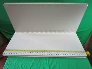 Lozier 1 In H X 48 In W X 13 In L Powder Coated Cool White Shelf 2pk