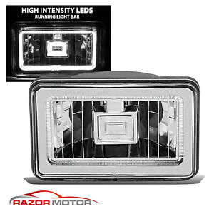 For Commercial Truck Universal Halogen 4 X 6 Led High Beam Headlights Each