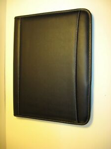 Lot Of 2 Millennium Genuine Top Grain Leather Writing Pads Brand New Black