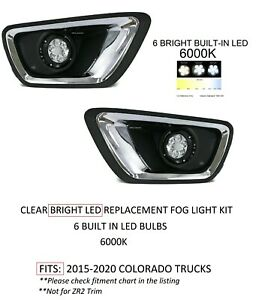 Direct Replacement Led Fog Light Kit For Fits 2015 2020 Chevy Colorado Truck