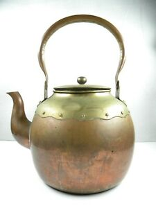 Vintage Copper And Brass Tea Kettle Japanese