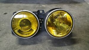 Bmw E30 Headlight Right Yellow Hella Euro Smiley Genuine rare 316i M3