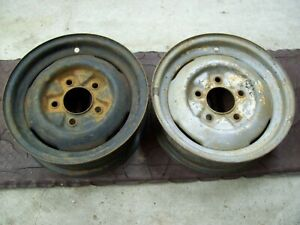 Vintage Rare 15x5 Ford Steel Wheels 40 s 50 s Oval Fomoco Kh Kelsey hayes