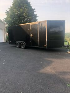 2019 Freemdom 18 X 8 5 Enclosed Car Trailer W remote Winch And Extras take Look