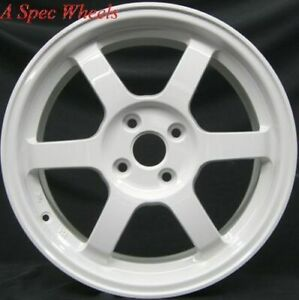 17x9 0 Rota Grid Wheels 5x100 White Rims 42 Fits Wrx 01 02 03 04 05 06 07 08 09