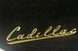 1956 1954 1955 Some Cadillac Grille Script Gold Plated