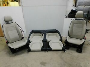 2015 2017 Ford Mustang Gt Cream Leather Front And Rear Seat Set Power Oem