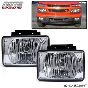 Pair Bumper Fog Light Replacement For 2004 2012 Chevy Colorado Gmc Canyon Pickup