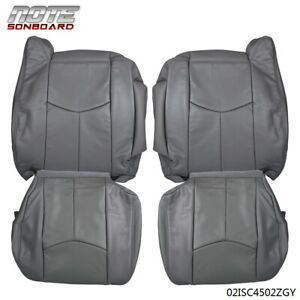 4pcs Leather Seat Cover Kit For 2003 2006 Chevy Tahoe Suburban Silverado gmc