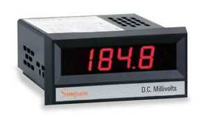 Simpson Electric 24503 Digital Panel Meter dc Voltage