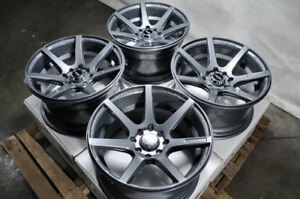 15x8 Wheels Miata Cooper Jetta Civic Accord Escort Miata Mini Rims 4x100 4x114 3