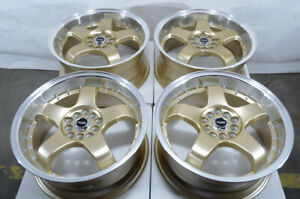 17 Wheels Prius Corolla Camry Legacy Impreza Accord Civic Is200 Gold Rims 5 Lug