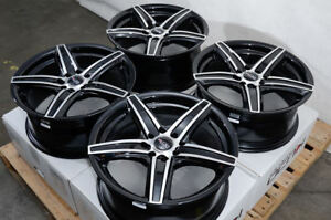 16 Wheels Honda Civic Accord Prelude Corolla Miata Cooper Black Rims 4 Lugs