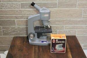 American Optical Corporation Sixty Microscope 43 10 And 4 Lens Free Shipping