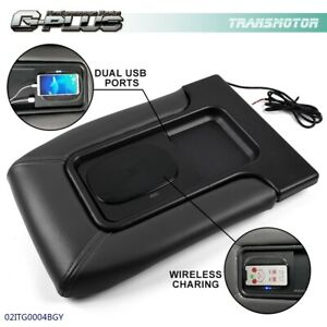 For Cadillac Gmc Pickup Truck Car Center Console Lid W Wireless Charging