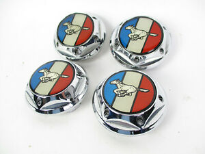 Ford Mustang Pony C 002 1 Custom Chrome Wheel Center Cap Hubcap Cover Rim Set