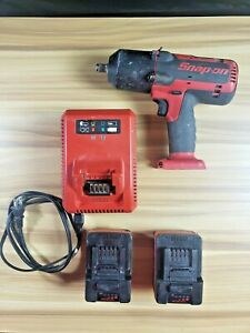 Snap On Ct7850 18v Lithium 1 2 Impact Wrench Kit With 2 Batteries 6340 11