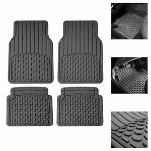 Car Rubber Floor Mats For All Weather Protection Semi Cusom Fit Gray