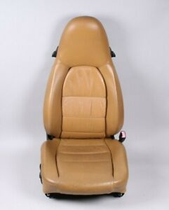 97 04 Porsche 911 986 996 Boxster Tan Leather Bucket Rt Passenger Seat Automatic