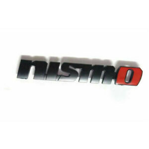 Nismo Badge Emblem Sticker Chrome Black Red