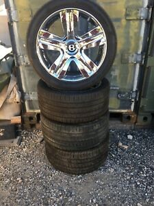 19 19 Inch Bentley Continental Flying Spur Rims Wheels Tires Oem 2007