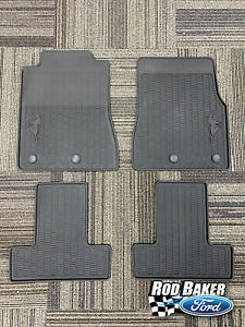 11 Thru 14 Mustang Oem Genuine Ford Black Rubber All Weather Floor Mat Set 4 Pc