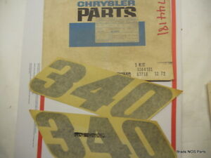Nos Mopar 1973 1974 Plymouth Duster Qtr Side 340 Decals Package Pair Black