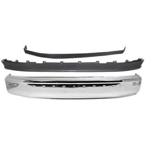 Bumper Face Bar Kit Chrome Front For F150 Truck F250 F350 Ford F 150 F 250 F 350