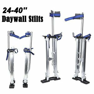 Drywall Stilts 24 40 Inch Aluminum Tool Painters Walking Painting Taping Silver