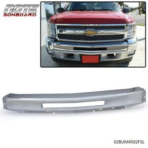 For 2007 2013 Chevy Silverado 1500 New Chrome Steel Front Bumper Impact Face Bar
